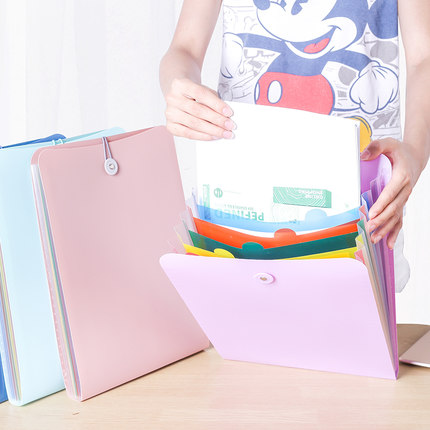 Creative Vertical File Folder A4 Documents Bag 7 Pocket School Folder For Documents creative vertical file folder a4 documents bag 7 pocket school folder for documents