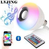 RGB Wireless Bluetooth Speaker Bulb Music Playing Energy Saving RGB Soptlight E27 LED Light Lamp With
