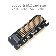 Kebidumei coque en alliage d'aluminium PCI Express carte d'extension Led Interface adaptateur d'ordinateur M.2 NVMe SSD NGFF à PCIE 3.0X16