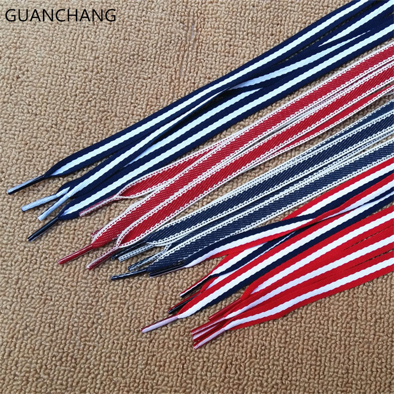 One Pair Free Shipping Flat Shoe Laces Colorful Shoelaces Sneakers Canvas Shoestrings Running/Jogging/Triathlon/Sports Fitness