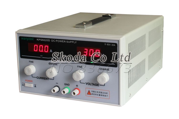 2015 New KPS6020D High-Power Switch DC Adjustable precision Digital Power Supply 60V 20A US/EU/AU Plug cps 6011 60v 11a digital adjustable dc power supply laboratory power supply cps6011