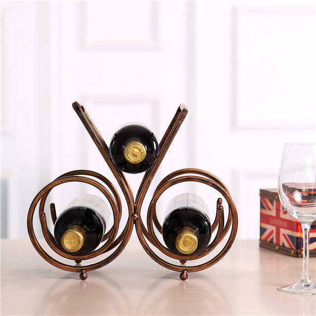 Metal wine holder Creative wine rack fashion wine rack homes fashion three wine holder rack