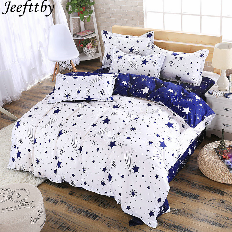 Home & Garden Meteor Shower Design Decoration Bedding Set 3/4pcs King Queen Double Single Size Duvet Cover Bed Sheet Pillowcase Bedclothes Skillful Manufacture