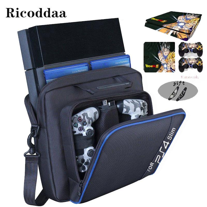 For PS4 Slim Game Sytem Bag Canvas Carry Bag Case Protective Shoulder For PlayStation 4 PS4 Console Travel Storage Carry Handbag