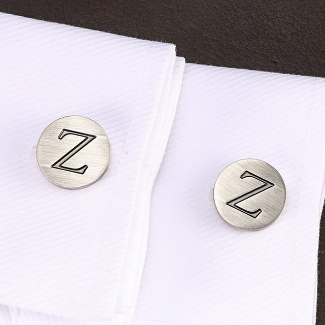 Запонки lepton в виде букв алфавита z для мужчин классические