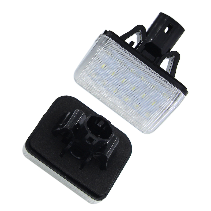 2Pcs Xenon White OEM-Replace LED License Plate Lights For Mazda CX-5 CX-7 Mazda Speed 6 Mazda 6 Sedan GY GJ GH GG