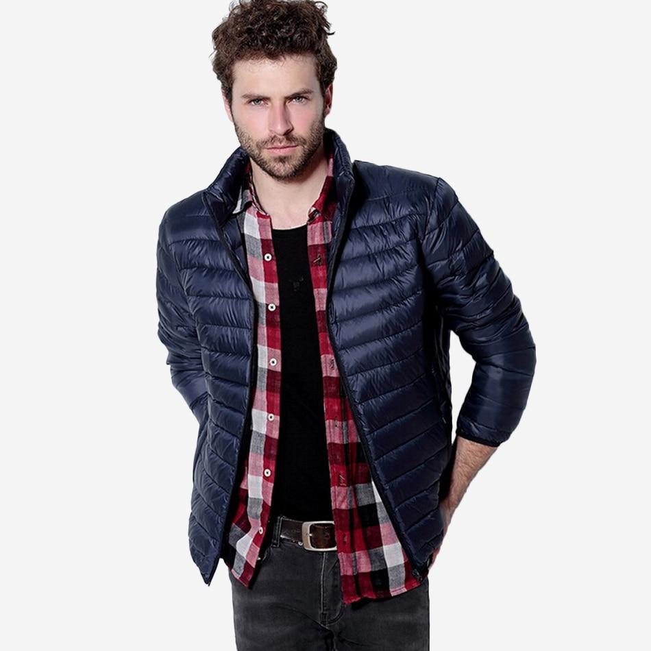 Mens Autumn Winter Mens Duck Down Jackets And Coats Solid Breathable Jacket Men Outdoors Parka chaqueta hombre Plus Size 3XL