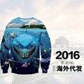 Высокое качество мальчик бейсбол одежда 3D цифровой трехмерной печати шаблон шею свитер Хип-Хоп одежды 12-18 лет