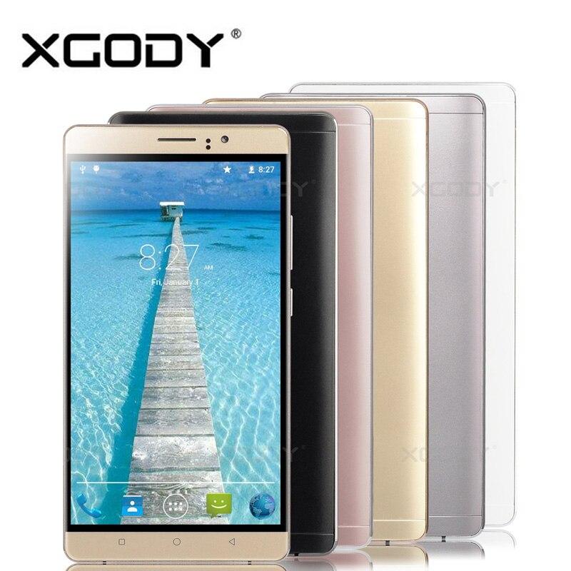 XGODY Y10 Smartphone Android 5.1 6.0 Pulgadas MTK6580 Quad A Core 512 MB RAM 4 G