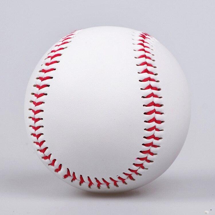 цена на 9 Handmade Baseballs PVC Upper Rubber Inner Soft Baseball Balls Softball Ball Training Exercise Baseball Balls HW349
