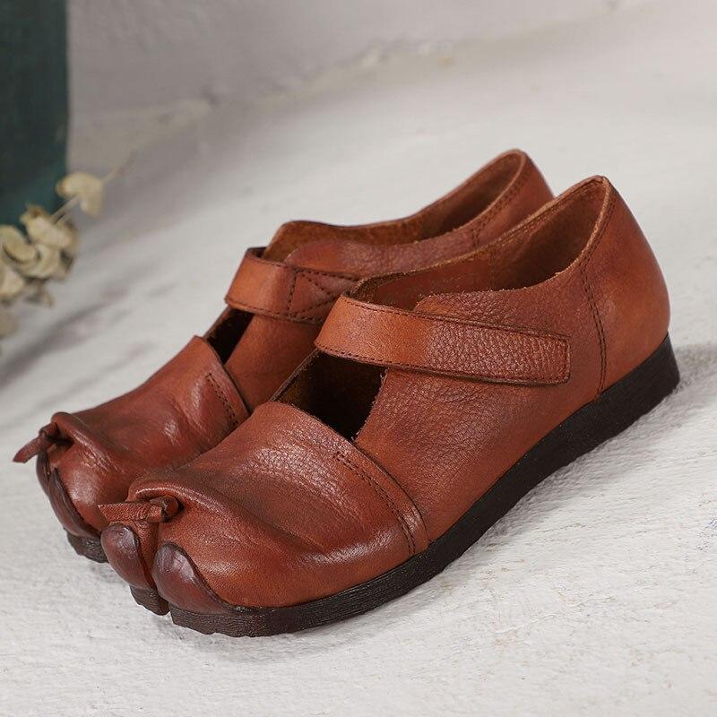 Divisé 2019 Confortable Mocassins brun Chaussures Cuir Appartements Printemps Noir Femmes Femme En Mou Black Orteil Fond brown hsrtxQdCBo