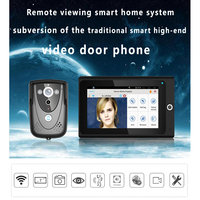 MOUNTAINONE Popular 7 WiFi Wireless Video Door Phone intercom Doorbell IP Camera PIR IR Night Vision Home alarm system