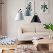 nordic modern pendant lights Kitchen Loft lamp restaurant bar bedroom single head hanging light fixtures