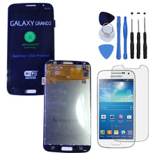 Original LCD Display Touch Screen Digitizer Assembly Parts For Samsung Galaxy Grand 2 SM-G7102 Duos Black+With free tools