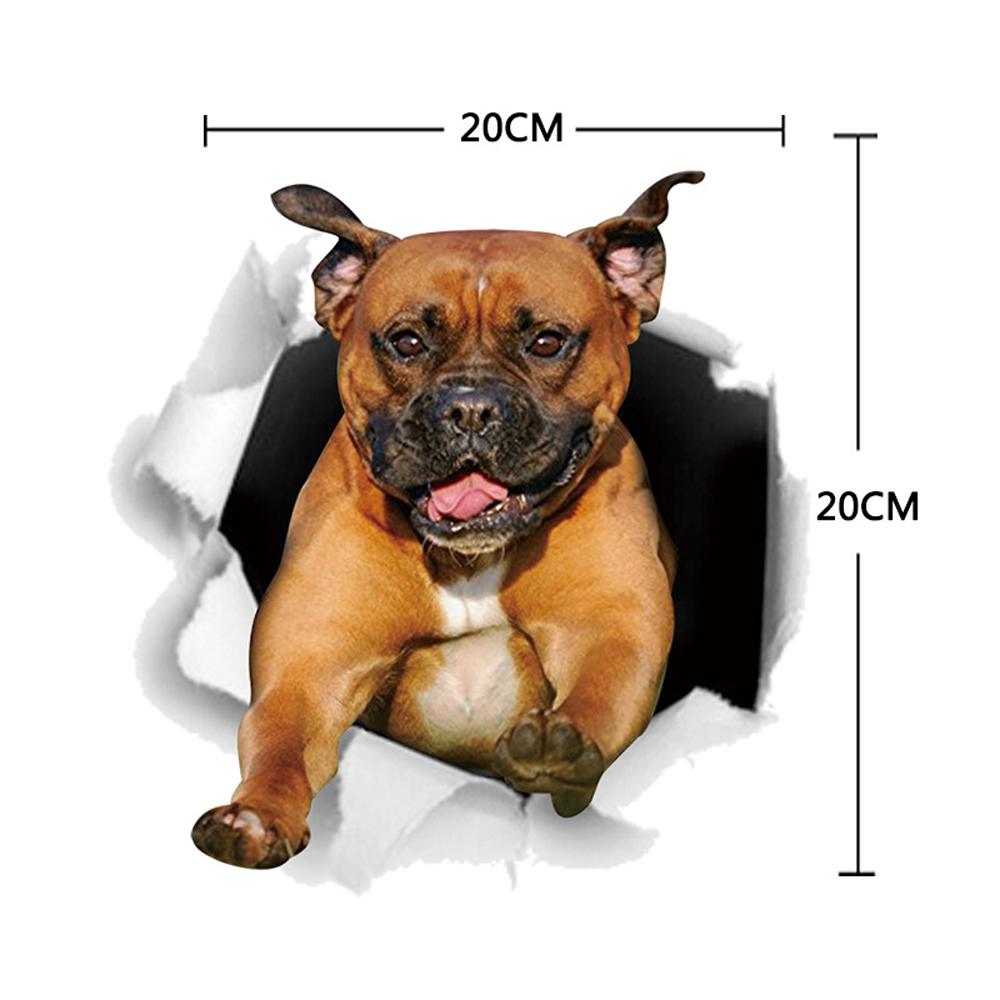 Image 5 - 13*17cm Fashion Car Stickers 3D Stereo Anime Funny Creative Personality Kitten Dog Simulation Stickers Car Styling Accessories-in Car Stickers from Automobiles & Motorcycles