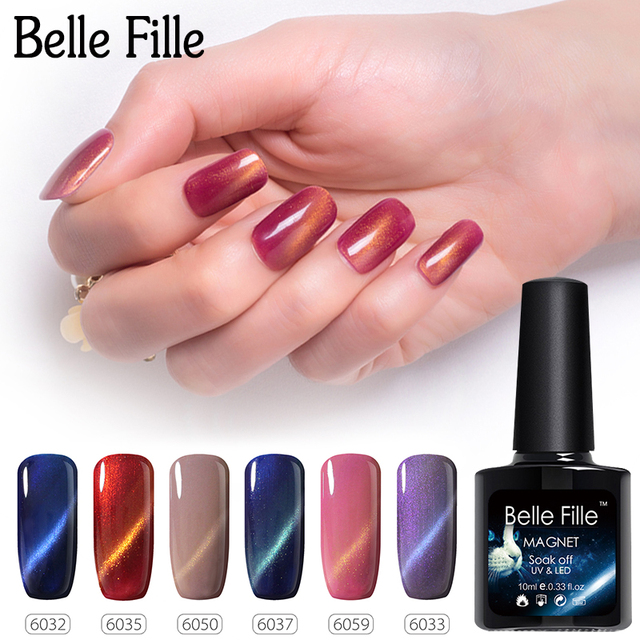Belle Fille 10 Ml Occhio Di Gatto Del Gel Del Chiodo 3d Bling Di