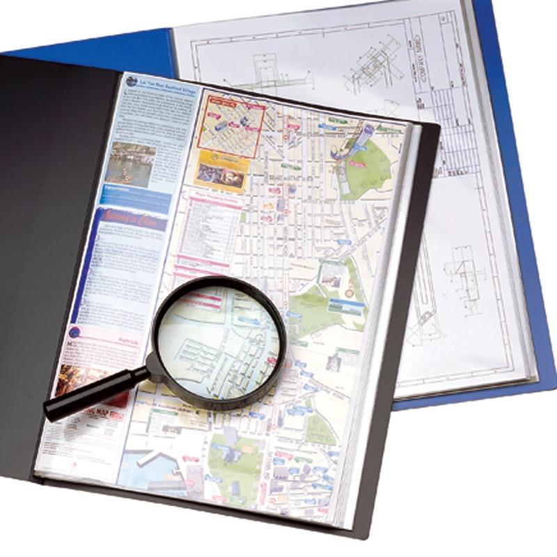 Livret de dossier A3 40 sacs, brochures d'information de type fixe professionnel de bureau
