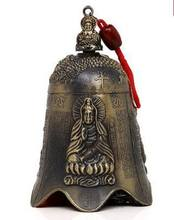 Copper alloy bell bells hang Buddhist feng shui supplies Evil spirit town house to ward off bad luck(China)