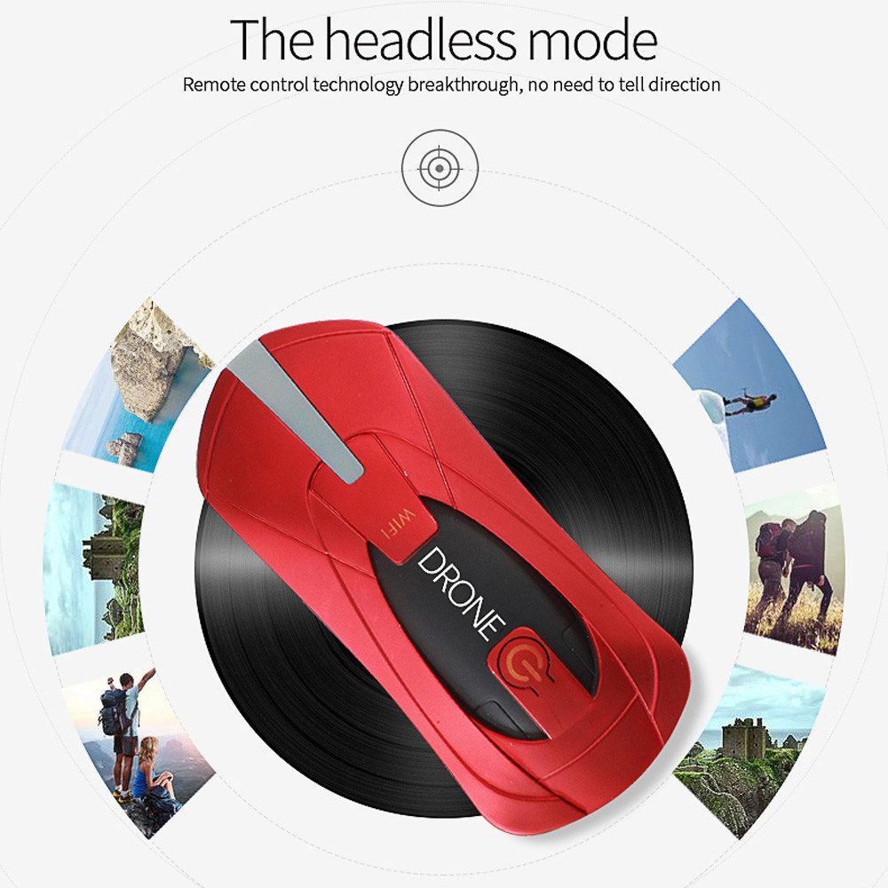 Hiinst JY018 WiFi FPV Quadcopter Mini Dron Foldable Selfie Drone RC Drones With 720P HD Camera Sep7