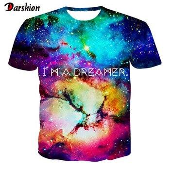 Camiseta con estampado 3D de Dreamer para hombre, cuello redondo, manga corta, estampado informal, camiseta de hombre efecto 3D, camisetas de moda para mujer, camiseta de alta calidad