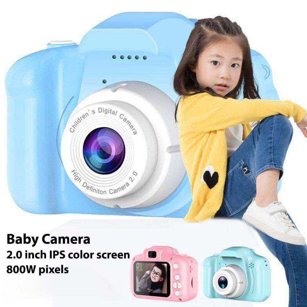 HD 1080P 2.0 Inch IPS Screen Children Camera Cartoon Digital Mini Video Camcorder Motion Camera Toys Gifts For Kids|Mini Camcorders| |  - title=