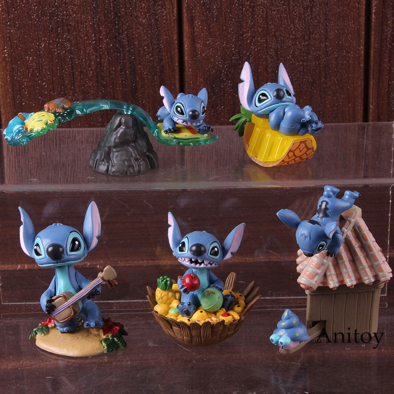 Image 4 - Cartoon Figure Lilo and Stitch Action Figures PVC Collectible Model Toys Lilo Stitch Christmas Birthday Gifts for Kids 5pcs/setAction & Toy Figures   -