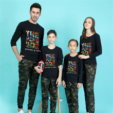 2016 family christmas t shirts women men plus size 5xl long sleeve tshirts tops mother and daughter clothes father son outfits