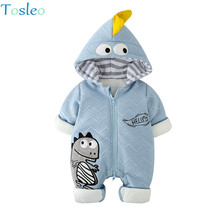 Tosleo Toddler Baby Rompers Warm Infant Jumpsuit Cartoon