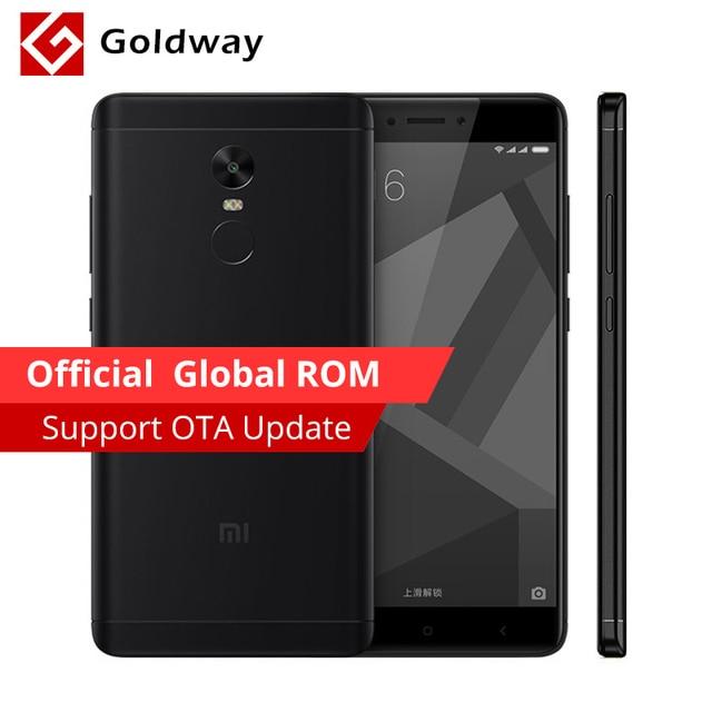 """Оригинальный Xiaomi Redmi Note 4x4 x мобильный телефон Snapdragon 625 Octa Core 5.5 """"FHD 3 ГБ Оперативная память 32 ГБ Встроенная память 13.0MP Камера отпечатков пальцев ID"""
