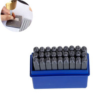 DoreenBeads Iron Based Alloy Alphabet Letter A Z Punch Metal Stamping Tools Rectangle Silver Gray 6