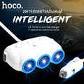 HOCO Car Charger 3 USB Car Charger Output 2.4A Quick Charge 3.0 Cigarette car charger extention for iphone