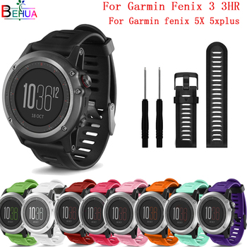 Correa de silicona deportiva para reloj Garmin Fenix 3 3HR correa de muñeca de repuesto para reloj Garmin Fenix 5X 5x Plus