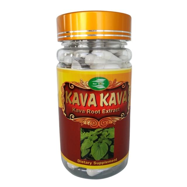 Кава Выдержка 10% Kavalactones 500 мг x90Capsule * 1 Бутылки бесплатная доставка