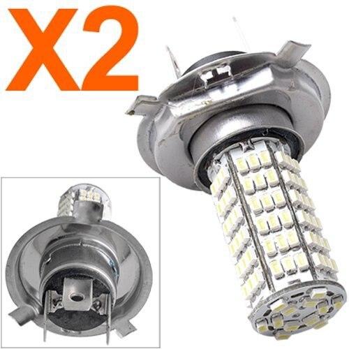 2 X H4 LAMPE AMPOULE BULB A 3528SMD 120  LED BLANC PR VOITURE  cold white 3528 DC 12V car light led