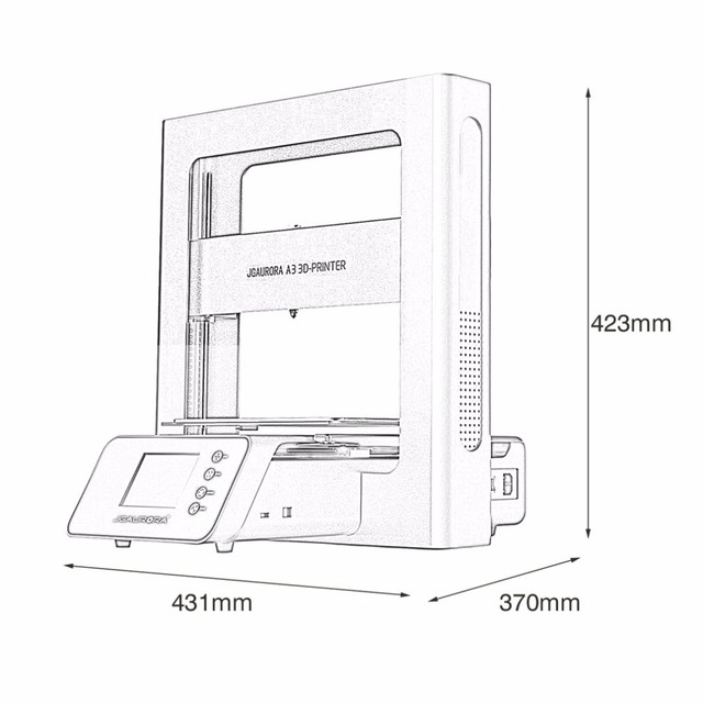 Portable 3D Printer Full Metal Frame High Precision Large Printing Size USB Printing Machine LCD Touch Screen Display 5