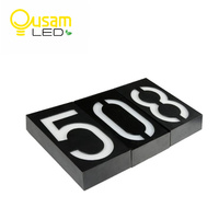 Solar 6 LED Bulb Lamp Illumination Doorplate Lamp House Number Outdoor Lighting Porch Lights With Solar
