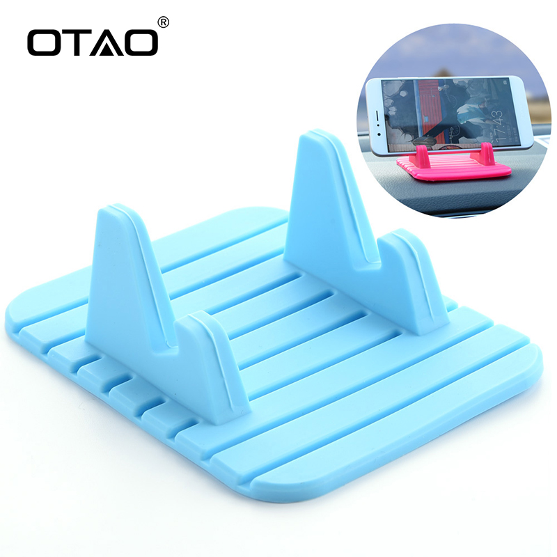 OTAO Universal Non-slip Pad <font><b>Phone</b></font> <font><b>Holder</b></font> Antiskid <font><b>Car</b></font> <font><b>Dashboard</b></font> <font><b>Phone</b></font> Stand for iPhone Anti-slip Mat <font><b>Car</b></font> GPS Cell <font><b>Phone</b></font> Bracket