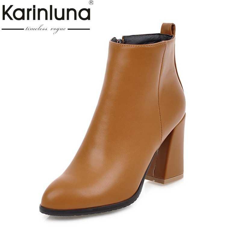 05023a8e4b7 KARINLUNA 2018 г. Большие размеры 34-45 Женская обувь Женская мода на  Высоком