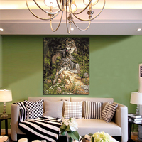 No Frame Wolf Animals DIY Painting High Definition Inkjet Painting Sheet Of The Double Wolf For