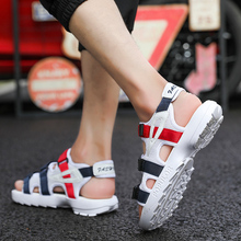 19 Popular Ins Men Shoes Light Weight Canvas Sandal