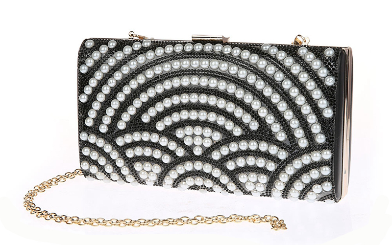 26cc0f51db Big Size Hard Style Rhinestone Evening Bags Pearl Clutches Fashion Women  Shiny Clutch Bag Diamonds Beading Flap SFX A0021-in Clutches from Luggage &  Bags on ...