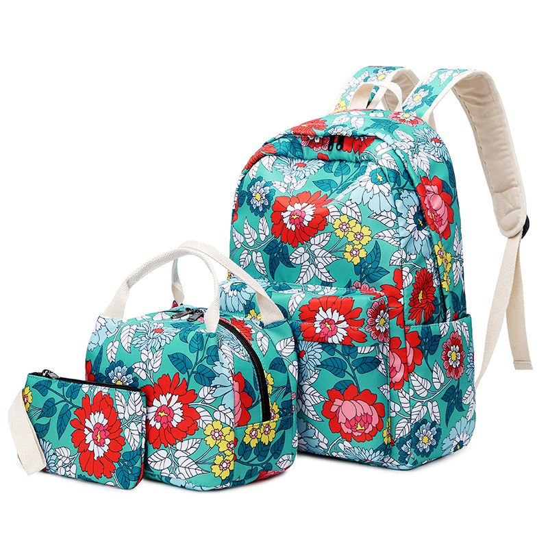 Children School Bags Girls Backpack Kids Flower Printing Backpacks Set Schoolbag Waterproof Primary School Backpacks Mochilas