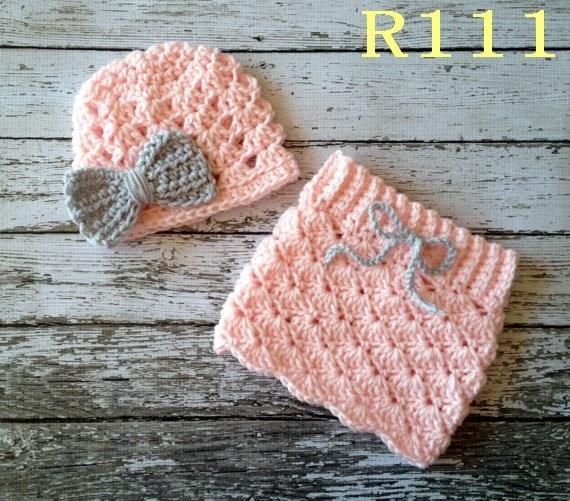 Envío libre del bebé niñas crochet sombrero rojo, arco blanco con ...
