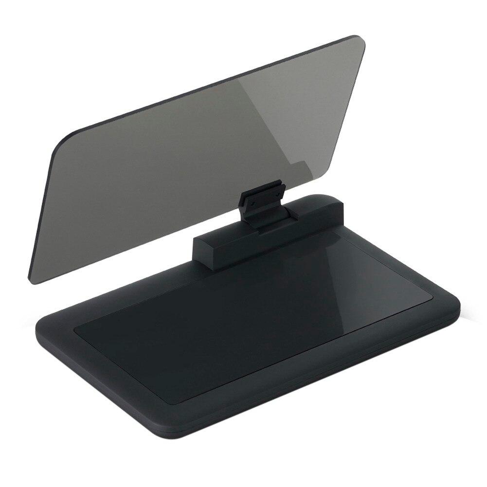 Универсальный 6 «Автомобиль HUD держатель телефона/GPS навигации Head Up Дисплей кронштейн для проектора Поддержка с противоскользящим из искусс…