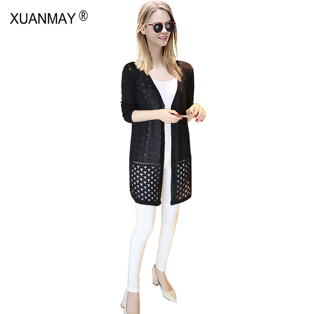 Light Shipping Cardigan cardigan Pink knitted Summer sweater women Free sweater Thin 2017 Cardigan Casual Blue New Women CqwYxRT