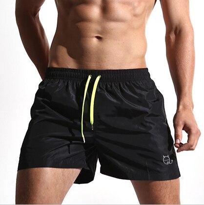 Sólidos Quick Dry Men Shorts Praia Swimwear Bermuda Masculina de Banho Placa Curta Roupa Sportswear Secagem Rápida Grande Tamanho M-XXL