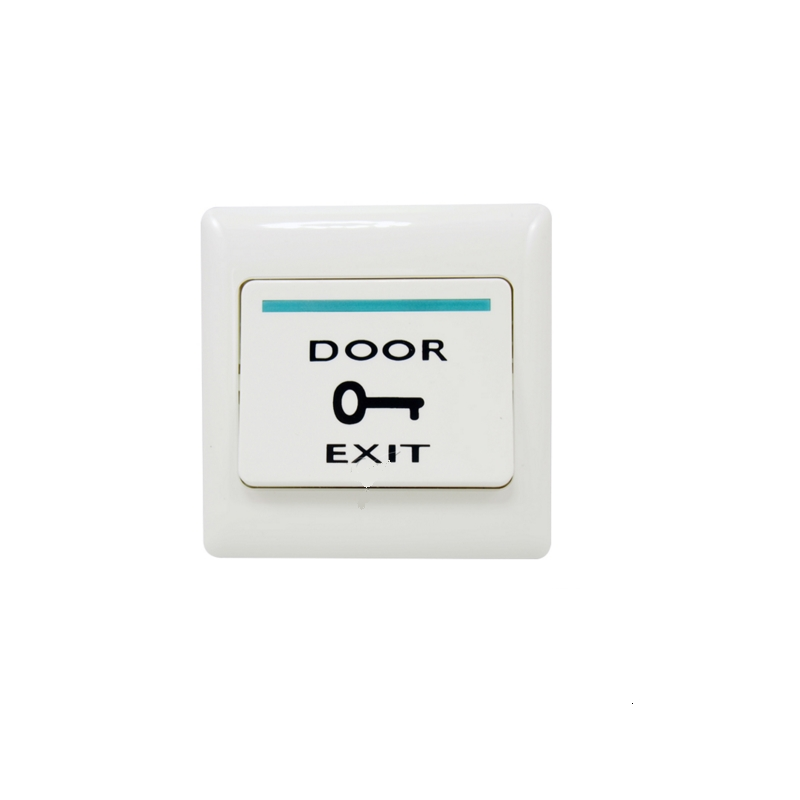 Door Access Control EXIT Button Automatically Restroration Push Release For Access System Nomal Open Signal