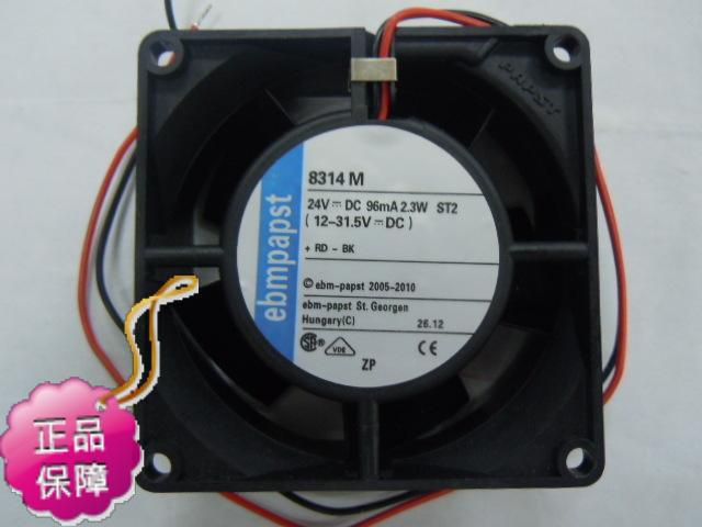 New Original German ebmpapst 8314M 80*32MM DC24V 2.3W inverter axial cooling radiator fan new original german ebmpapst 4606n 120 38mm ac110v 0 23a 20w high temperature axial radiator cooling fan