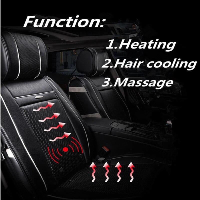 Riscaldamento Massaggio Ad Aria Multi-Funzione Triade Salute Cuscino Auto Aria Condizionata Cuscino del Sedile, Capelli di raffreddamento, Auto Styling Per Tutte Le Auto