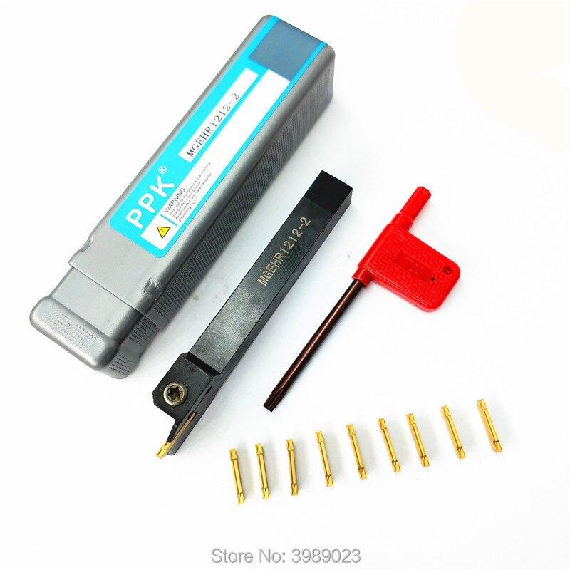 10pcs MGMN200-G Carbide Inserts Blade DIY KG MGEHR1212-2 Cut-Off Tool Holder